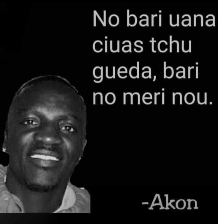 reflexões do mestre Akon - meme