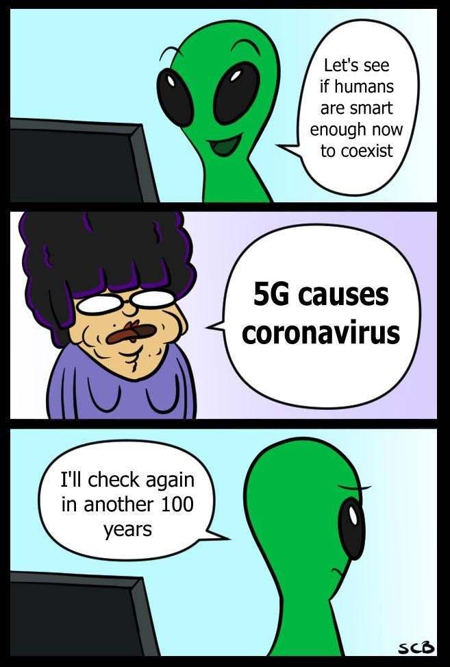 coronavirus causes 5g - meme