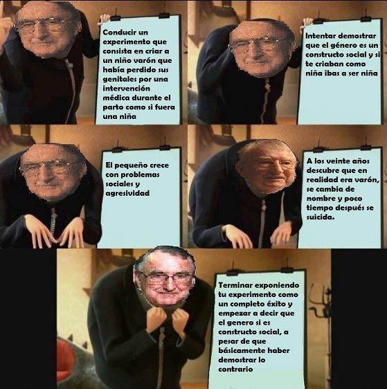 John Money, el pionero de la ideología de genero - meme