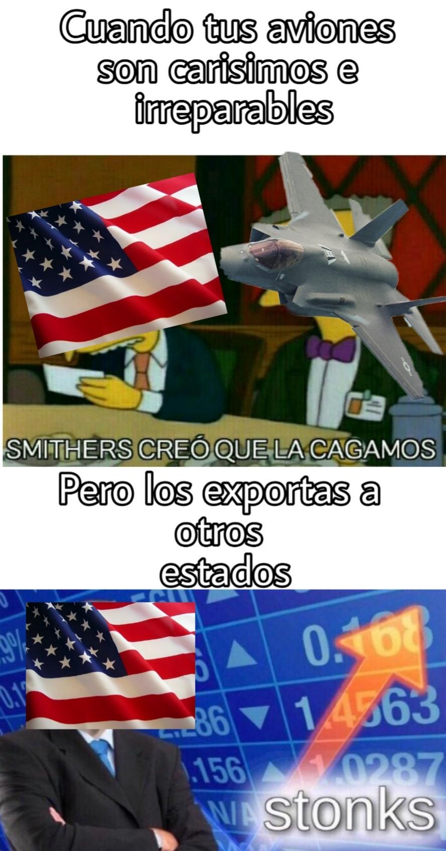 Así funciona EEUU y sus F35C, me quedo con los Su27 - meme