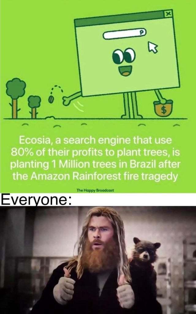 Use Ecosia guys - meme