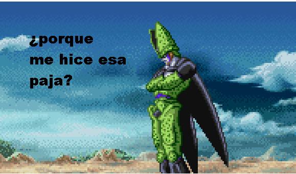 Cell pajeado - meme
