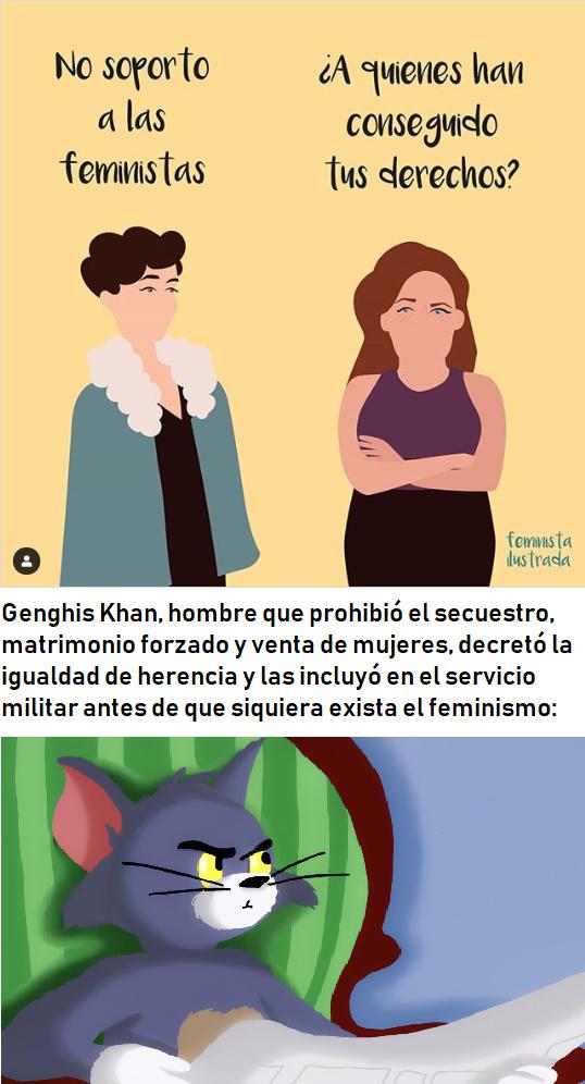 Probablemente el primer feminista del mundo y es hombre - meme