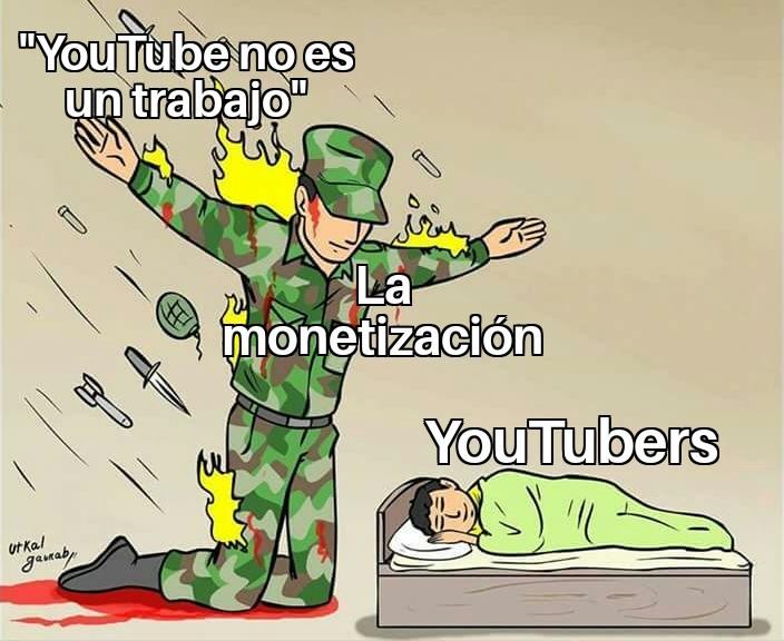 La verdad que YouTube evolucionó de forma enorme hasta considerarse un trabajo aunque la gente no lo vea así - meme