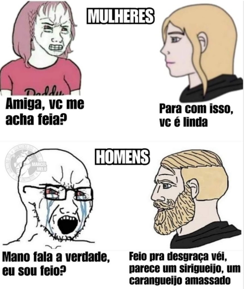 Tu é feio - meme