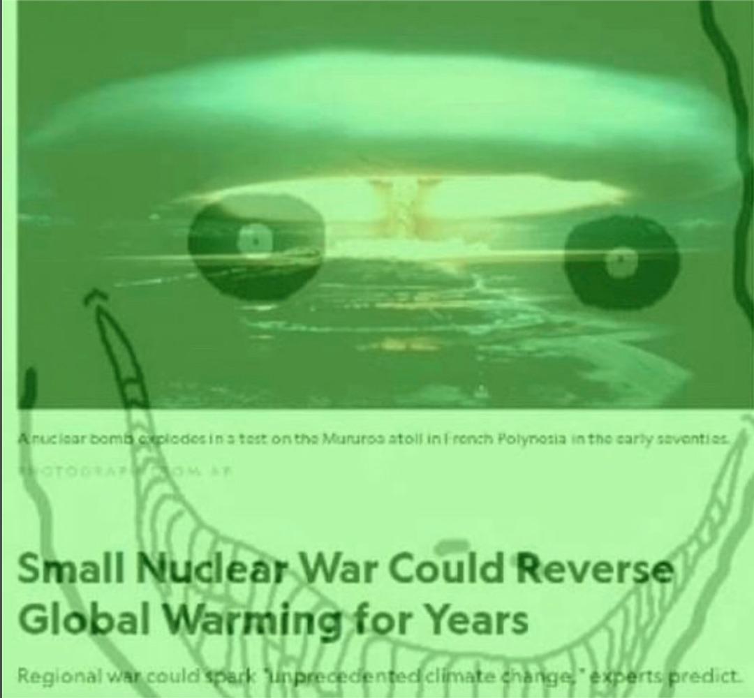 """SMALL"" nuclear war - meme"