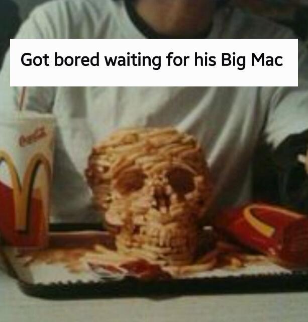 Fast food will kill you mmmmkay? - meme