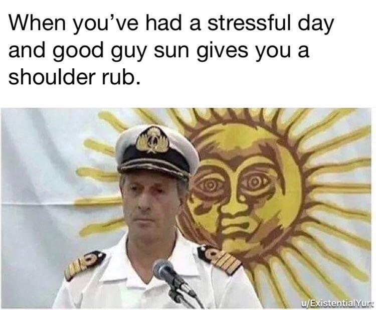 Nice guy sun - meme