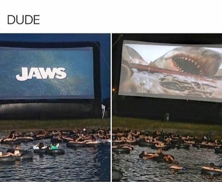 The water's fine - meme