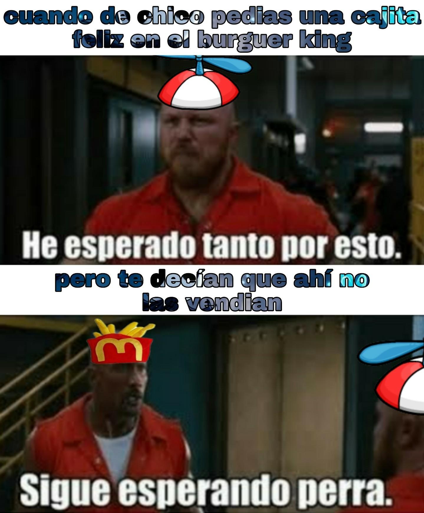 Burguer king y sus hamburguesas - meme