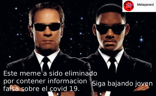 El coronavirus es real y los videos de reptilianos son falsos. - meme