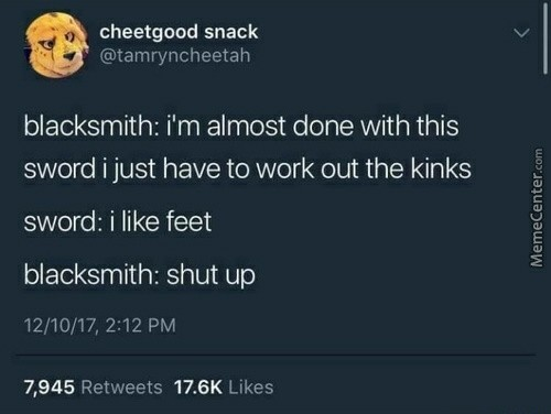 Feet - meme