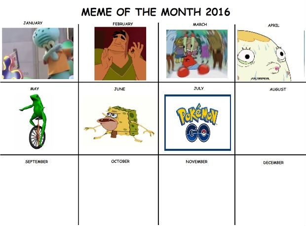 Here is the updated meme of the month I removed the bee movie meme