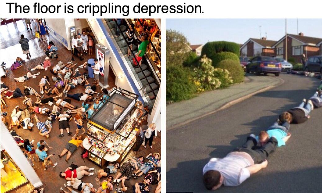 Everyone get down! - meme