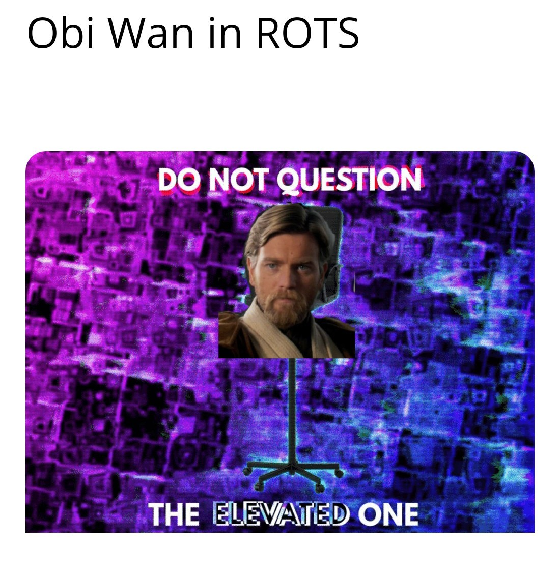 Do not question the bold one - meme