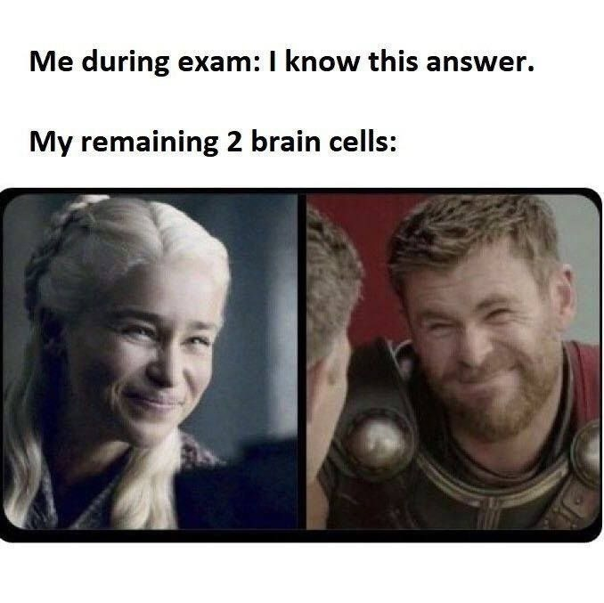 Exam issues - meme