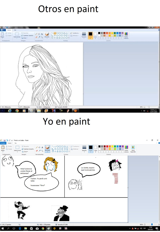 Tambien hecho en Paint el santo - meme
