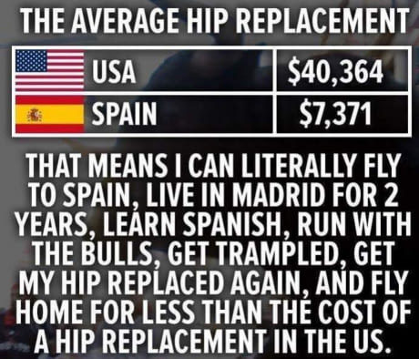 US vs Spain Healthcare System - meme