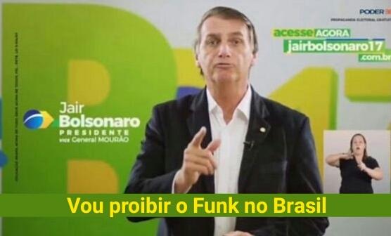 Proibir baile funk não resolve, mas o Bozonaro tem a solução! - meme