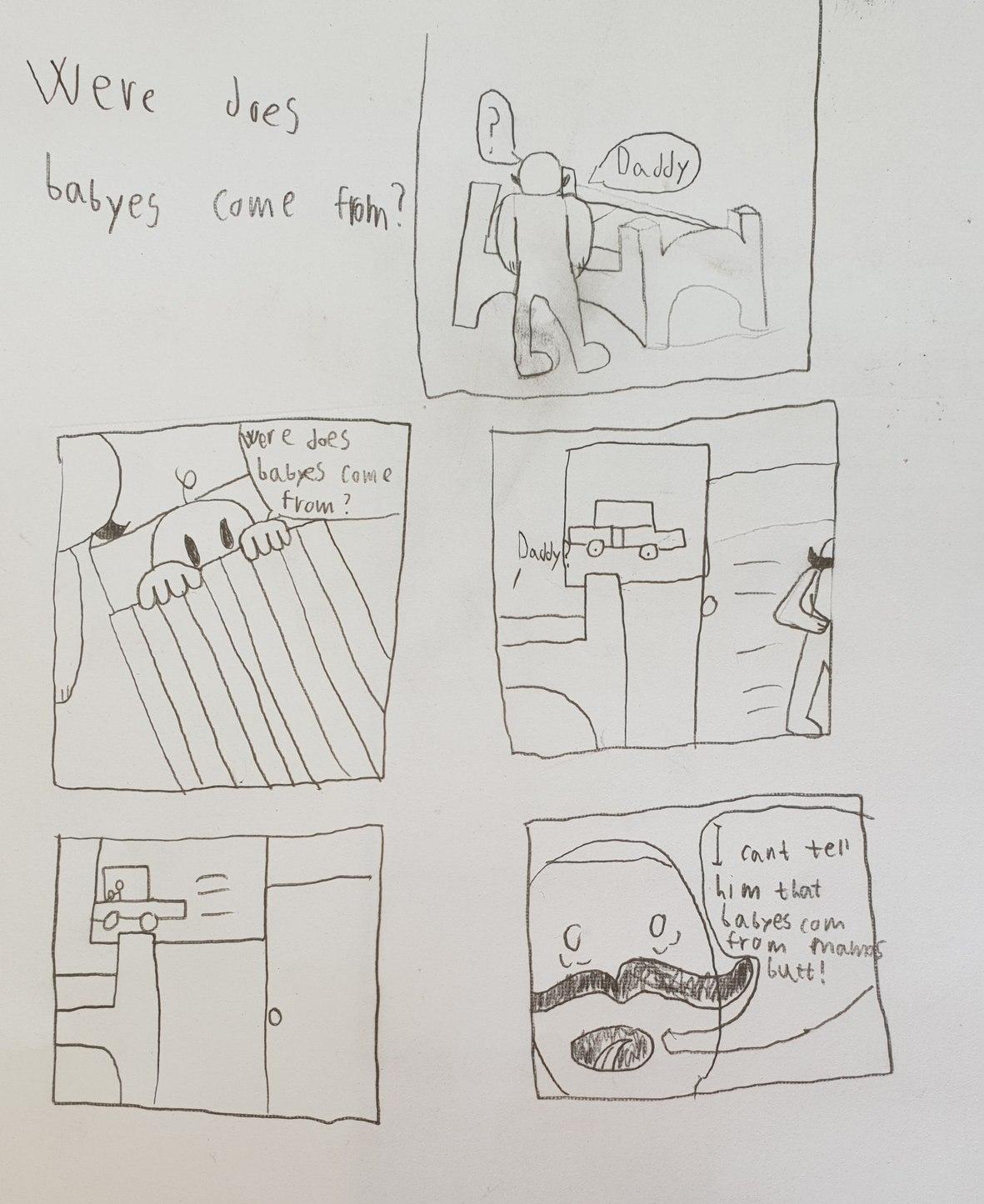 Look what my little brother drew in school - meme