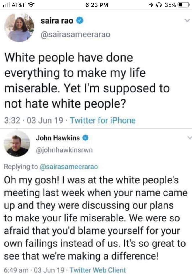 The first rule of white people meetings: We do not talk about white people meetings - meme