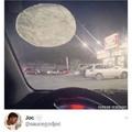 Que grande está la luna no?