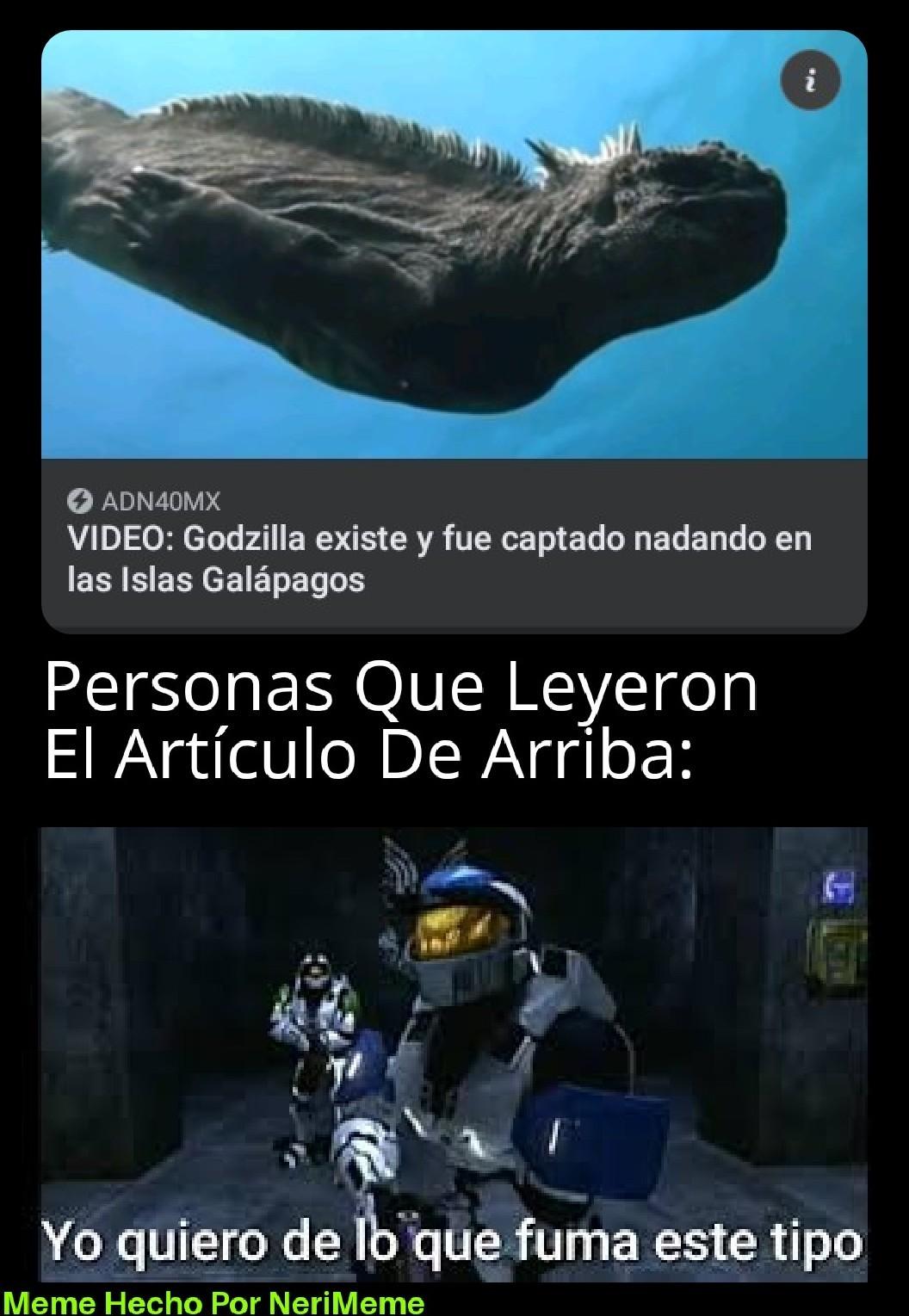 Meme: Dicen Que Un Fotógrafo Vio A Godzilla