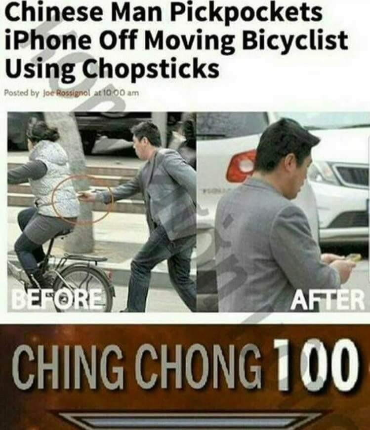 Damn asians. They're even better at stealing - meme