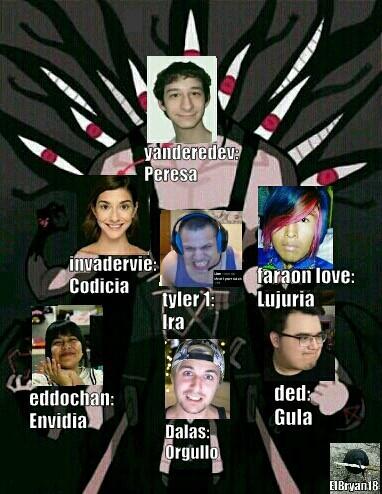 Los 7 pecados de internet - meme