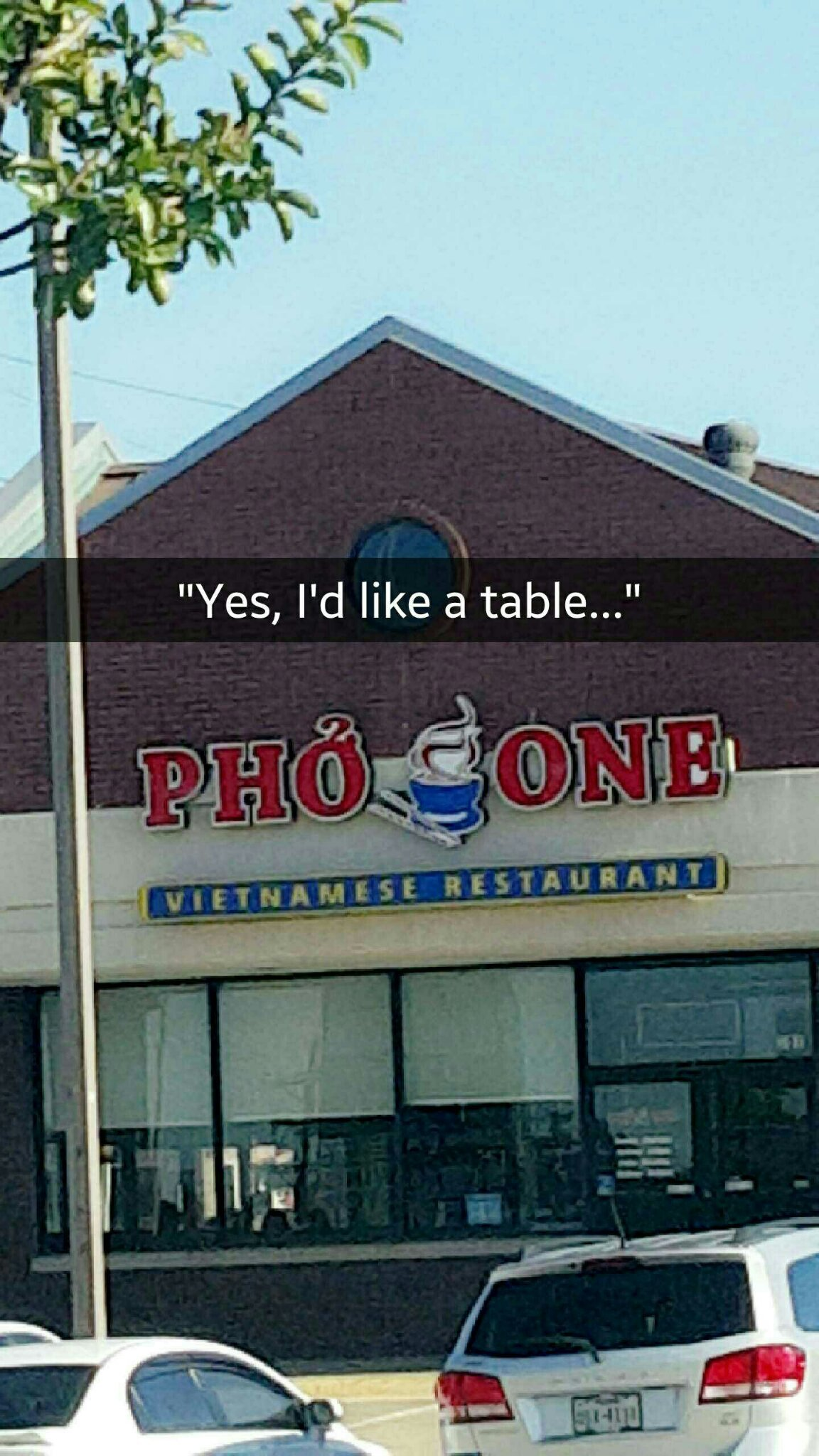 Table fo one please - meme