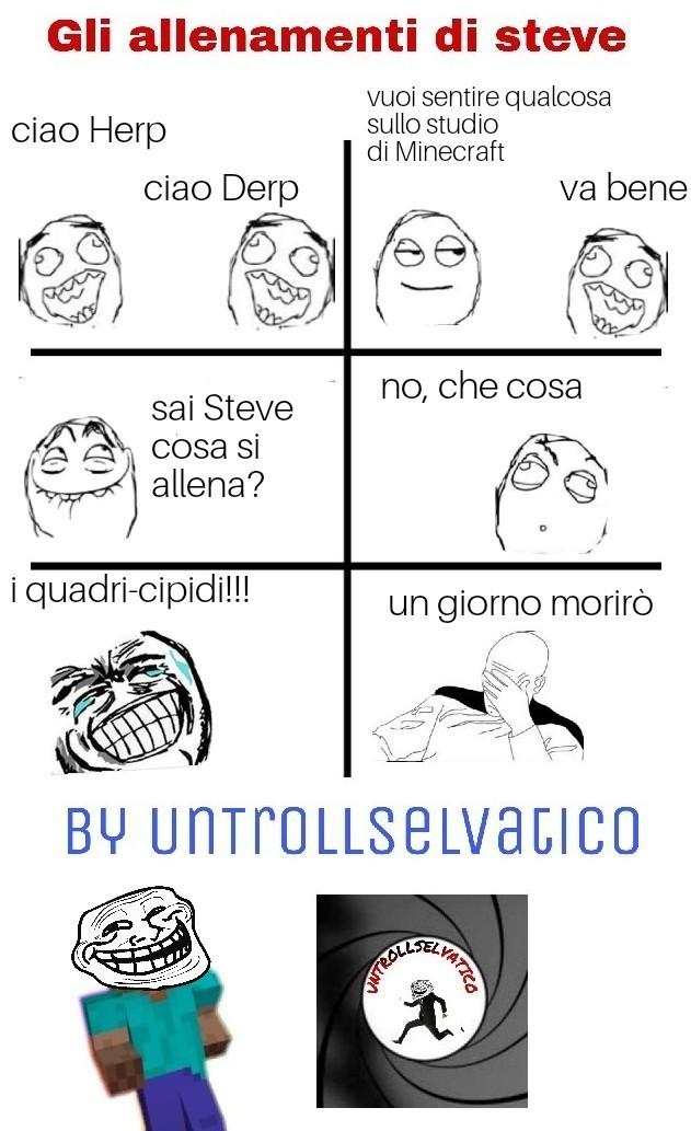 Gli allenamenti di Steve - meme