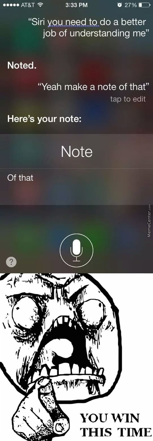 Siri such a smart ass... - meme