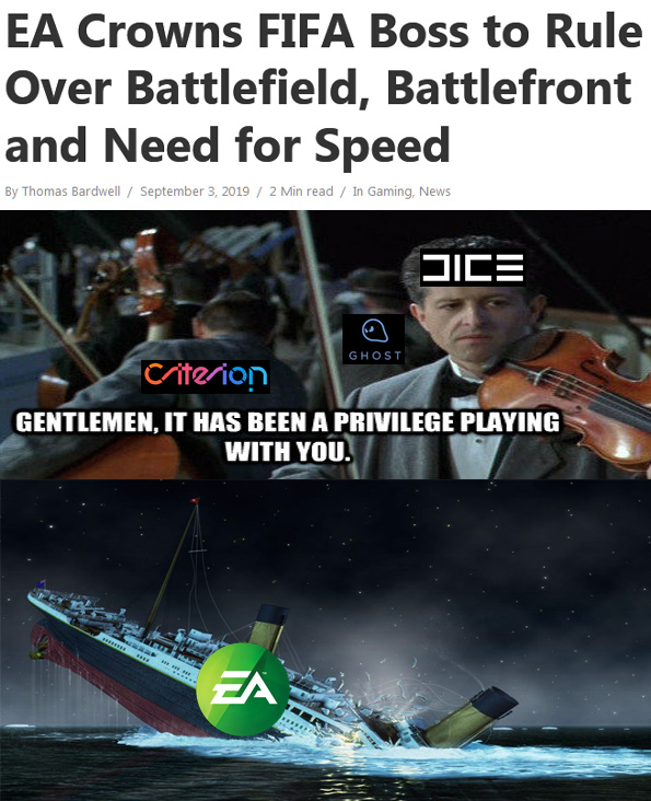EA's Stocks: They're in the tank! - meme