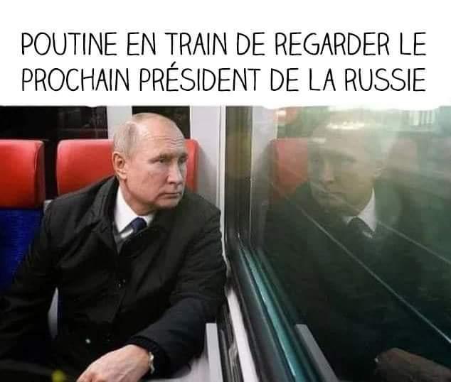 Poutine dans un train entrain qui va bientôt avoir sa DOUBLE RATION DE POUTINE - meme