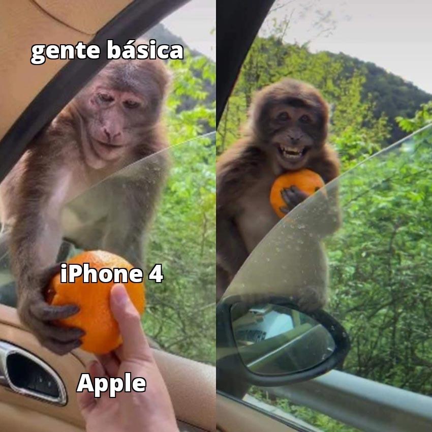 Toda la gente de mi barrio se cree la gran caca por tener el iPhone 4 - meme