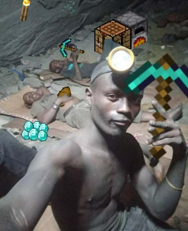 Creeper, oh man So we back in the mine, got our pick axe swinging from side to side Side, side to side This task a grueling one, hope to find some diamonds tonight, night, night Diamonds tonight Heads up, you hear a sound, turn around and look up, total s - meme