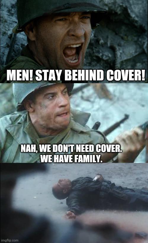 Family can't stop bullets - meme