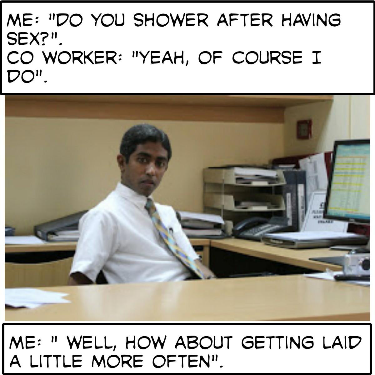 Showering - meme