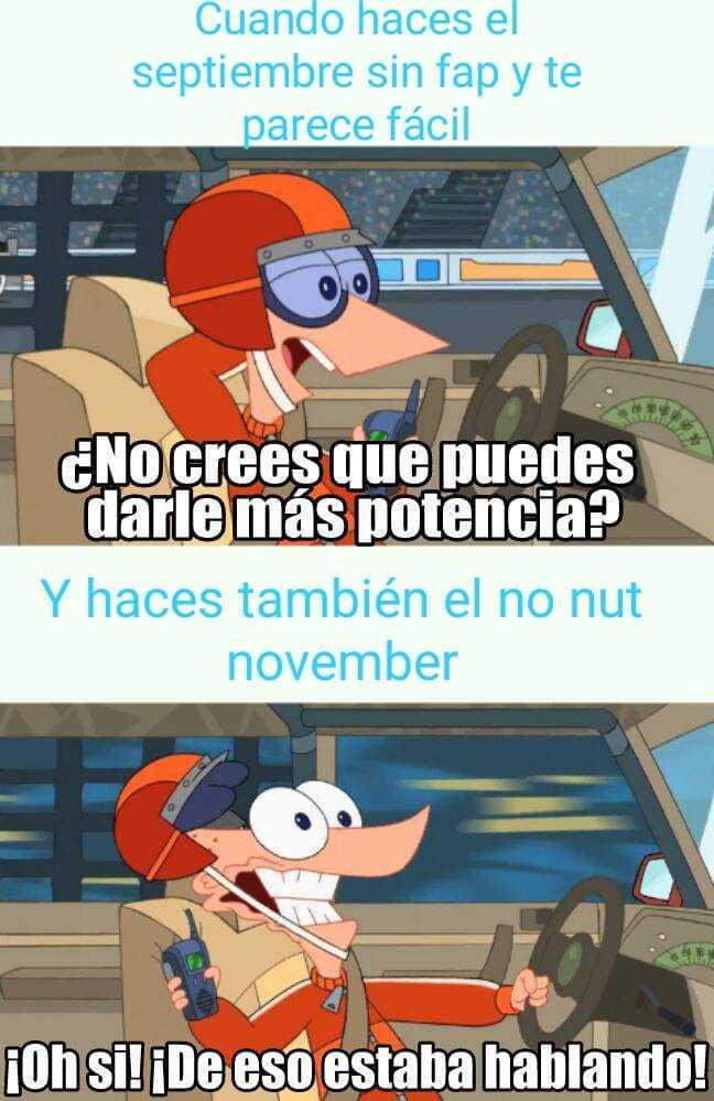 El no nut november es lo mismo que el septiembre sin fap pero en noviembre - meme