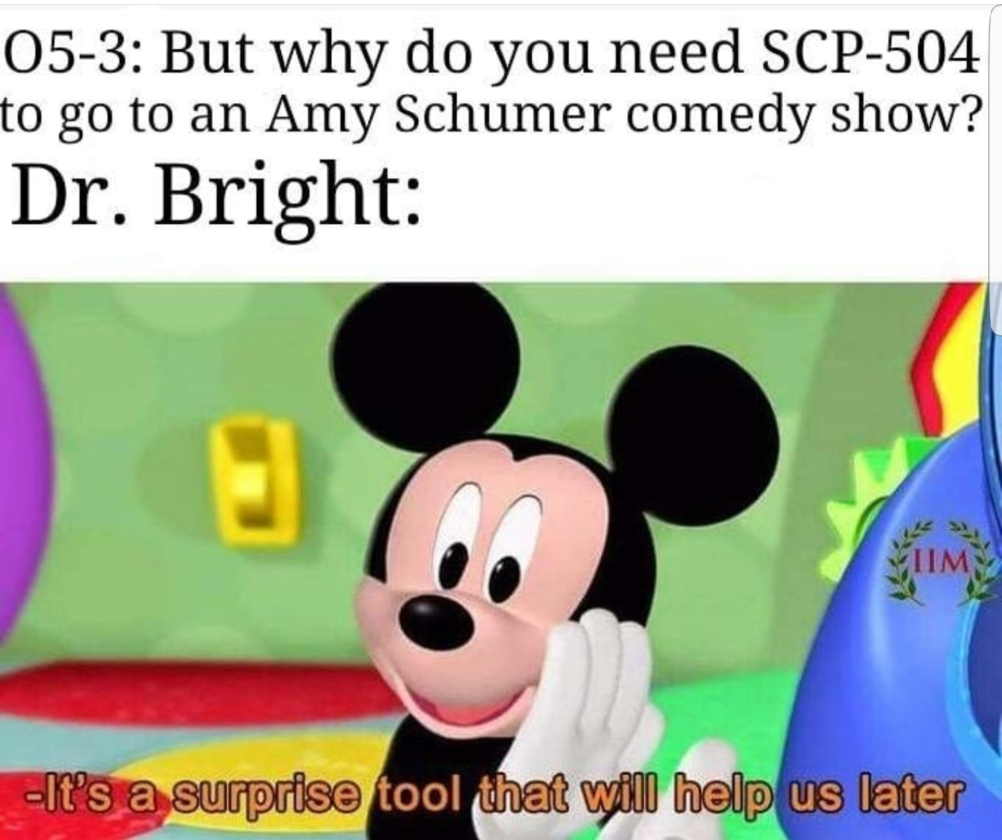 Is Mickey Mouse a SCP? - meme