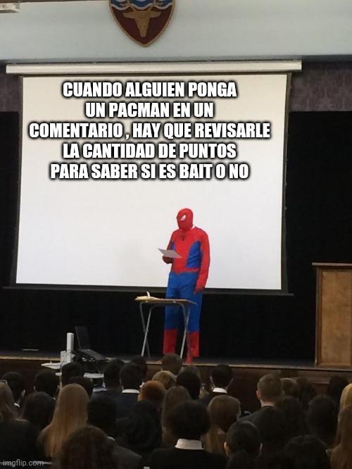 Spiderman es sabio - meme