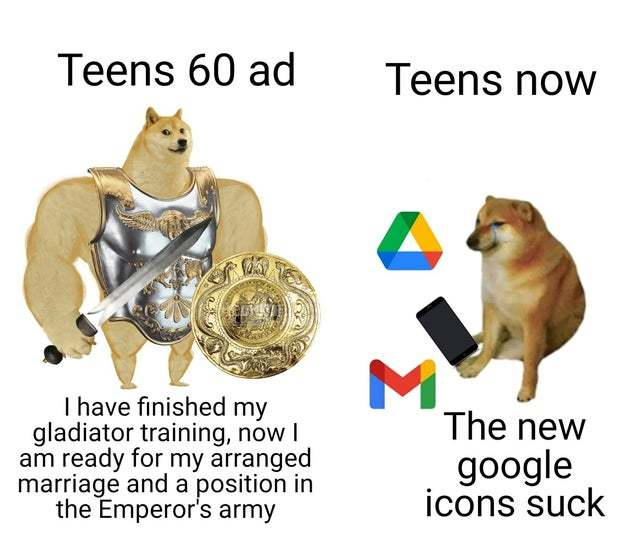 Teens 60 ad vs teens now - meme