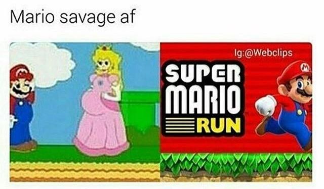 black mario - meme
