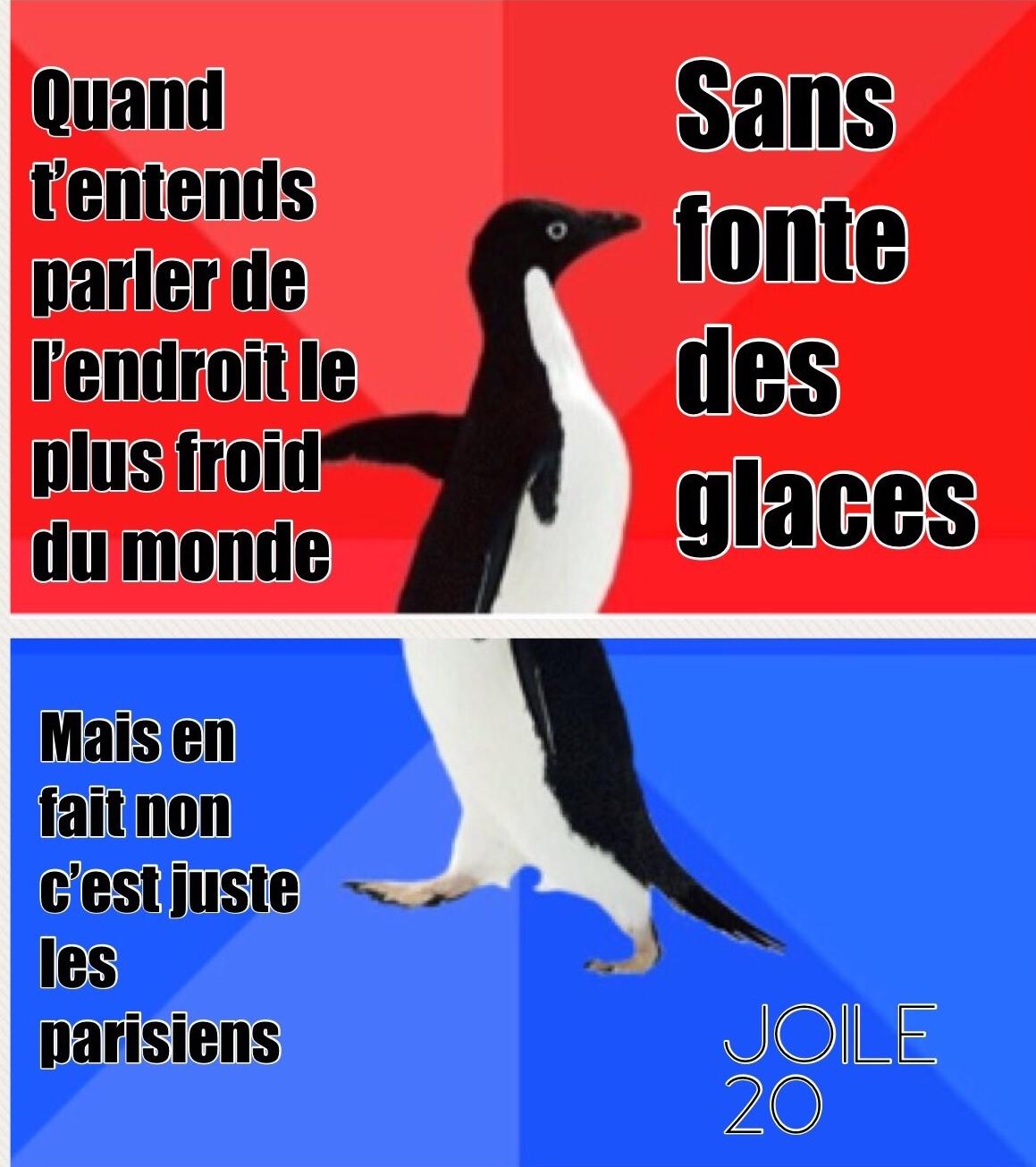 promis j'aime bien les parisiens  - meme