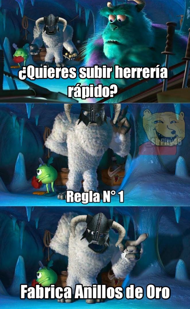Herrería Skyrimniana - meme