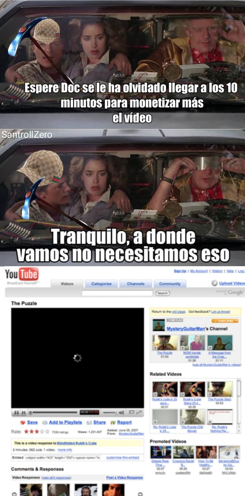 Echo de menos el antiguo YouTube :'( - meme