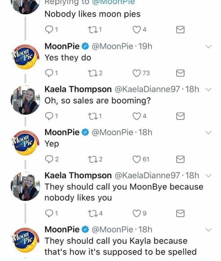 I like moon pies and cream pies - meme