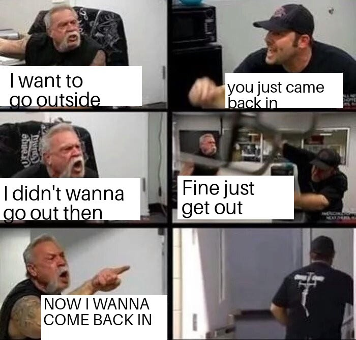 Me vs my dog - meme