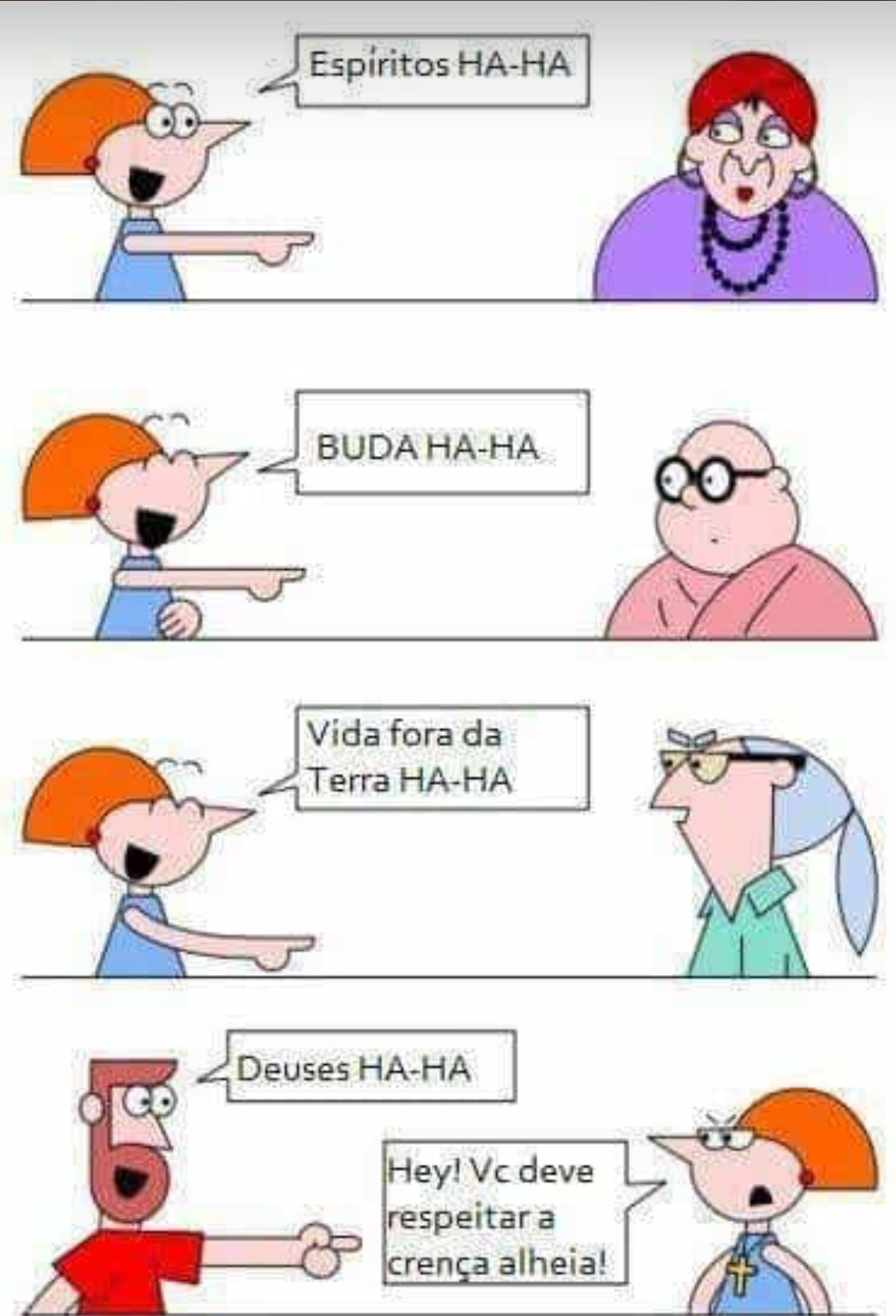 Intolerância é ignorância - meme
