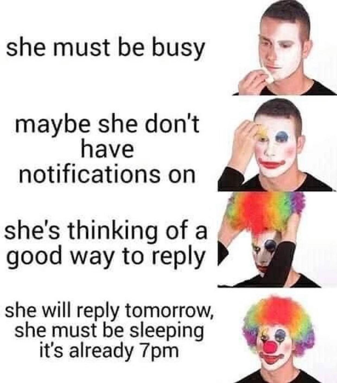 it's the year 2020 I hope she replies next year - meme